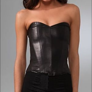 Kiki de Montparnasse leather bustier 32D